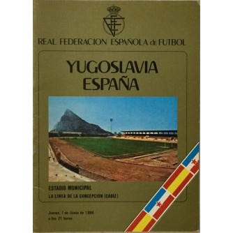 YUGOSLAVIA ESPANA ESTADIO MUNICIPAL CADIZ PROGRAM 1984.